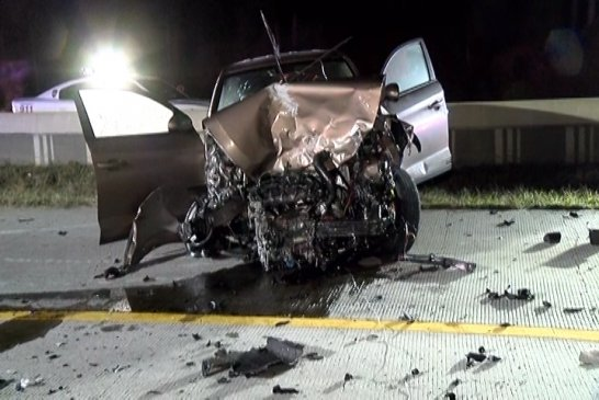 FEMALE DIES IN EARLY MORNING 8-VEHICLE CRASH