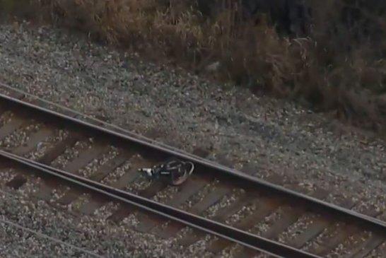 HOMICIDE DETECTIVES FINISH ON SCENE INVESTIGATION OF TRAIN VS BICYCLE FATAL CRASH IN PORTER