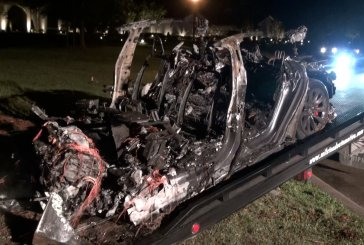 TWO KILLED AS DRIVERLESS TESLA HITS TREE AND BURSTS INTO FLAMES IN THE WOODLANDS