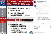 I-45 among most dangerous freeways in US, new study shows