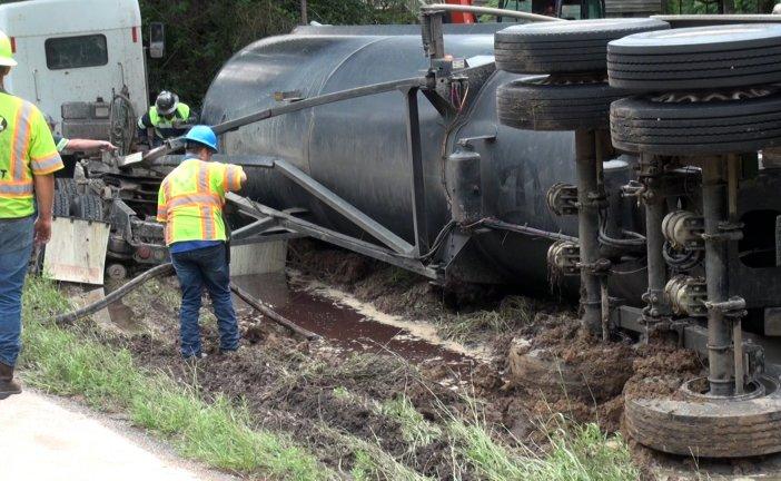 18-WHEELER CRASH ON SH 105