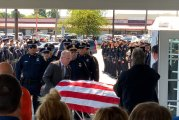 PROCESSION BRINGS FALLEN HPD OFFICER WILLIAM JEFFREY TO TOMBALL