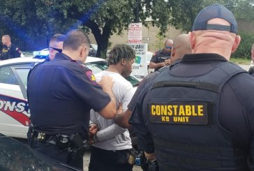 SECOND MURDER SUSPECT OUT ON BOND FROM HARRIS COUNTY ARRESTED COMMITTING A FELONY IN A WEEK