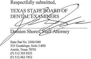 LICENSE OF NEW CANEY DENTIST TEMPORARILY SUSPENDED AFTER